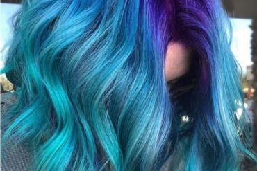 Blue Hair Color Highlights for Medium Hair