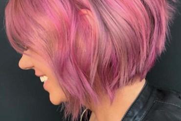 Pink Short Bob Haircut Styles for 2019