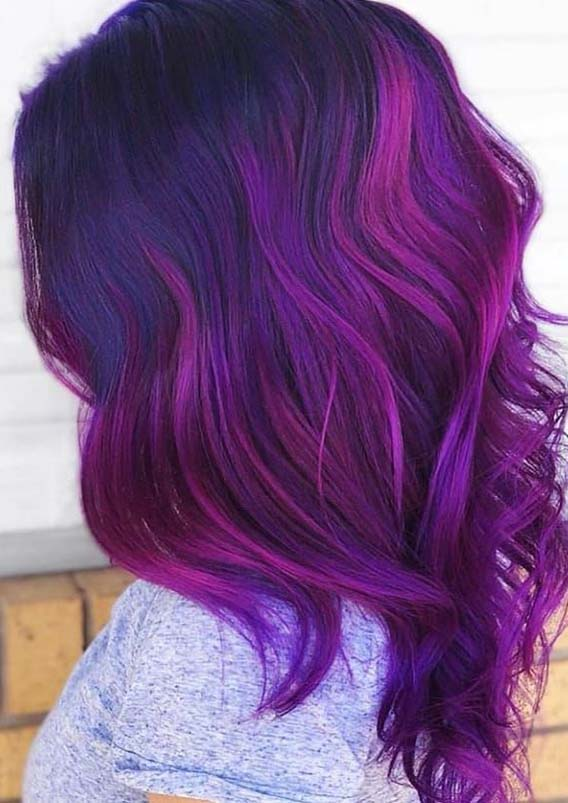 Stunning Purple Violet Hair Color Ideas For Every Woman In