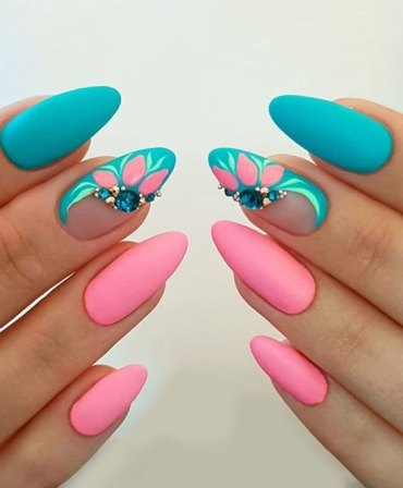 Wonderful Long Nail Art Style & Trends for 2019