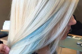 Blonde Hair Colors with Blue Highlights for 2019