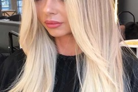 Cutest Bright Blonde Highlights for Sleek Straight Hair in 2019
