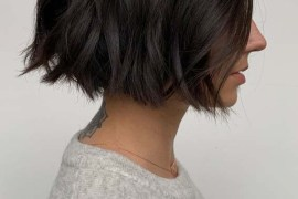Short Textured Blunt Bob Cuts for 2019