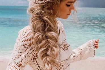 So Pretty Mermaid Crown Braid Styles for Long Hair in 2019