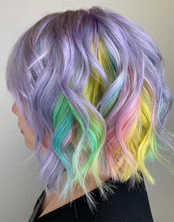 Lovely Colorful Hair Color Ideas For Short Hair Stylezco