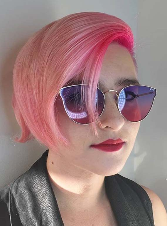 pink hair colors for short undercuts for 2019