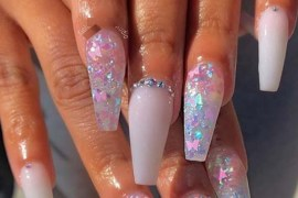 Glitter Nail Designs for Summer in Year 2019
