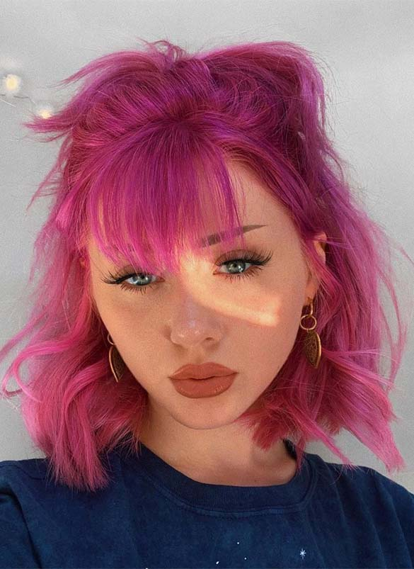 Pink Hair Styles & Hair Color Shades for Women 2019