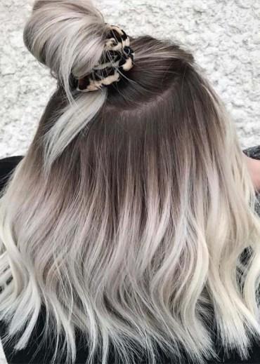 Redken blonde hair color ideas with top bun Styles