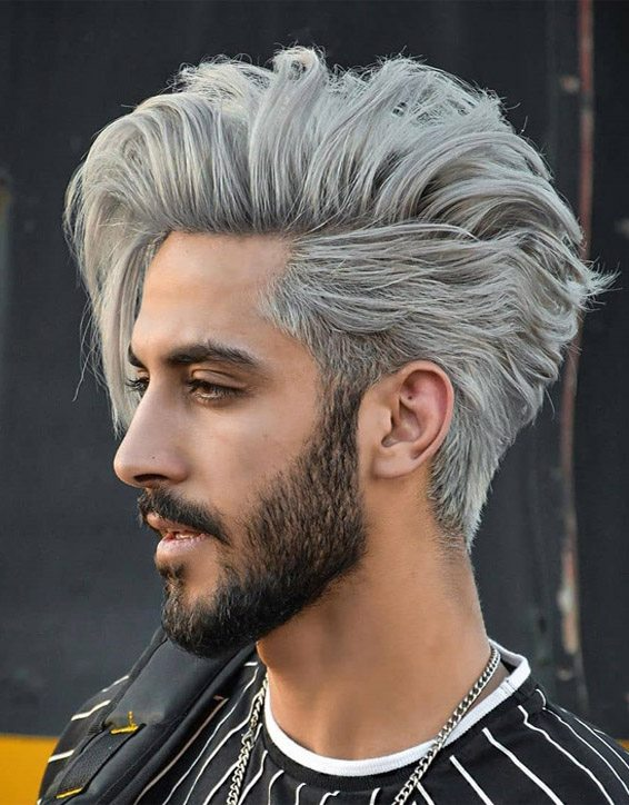 Unique Mens Hair Color Ideas & Style for 2019
