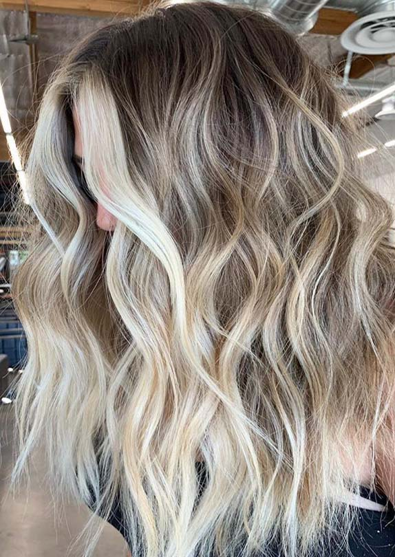 High contrast blonde with seamless blends for 2019