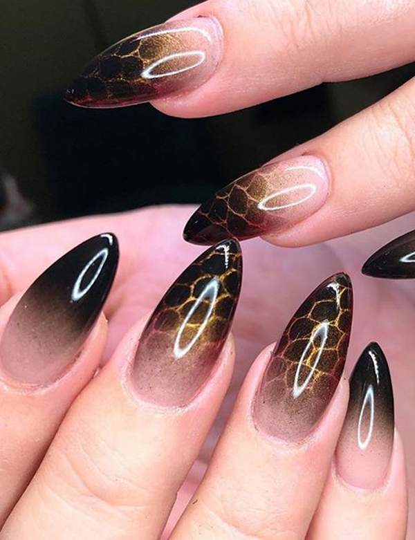 Unique Dark And Beautiful Halloween Nails To Create In 2019 Stylezco