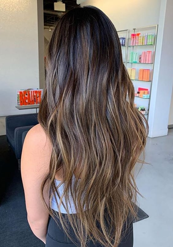 Beautiful chocolate latte hair colors for long hair in 2020