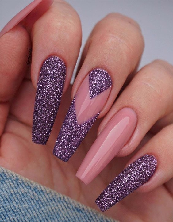 Cute Purple Nail Designs & Looks for 2020