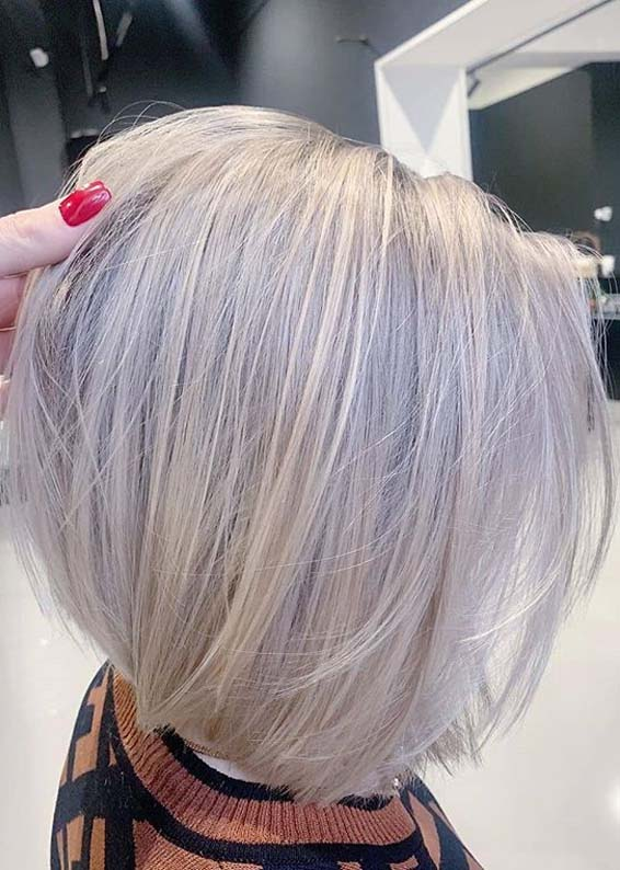 Adorable Bob Hairstyles with Blonde Shades for Women 2020