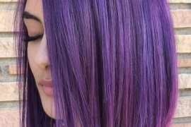 Beautiful purple bob haircuts for women in 2020