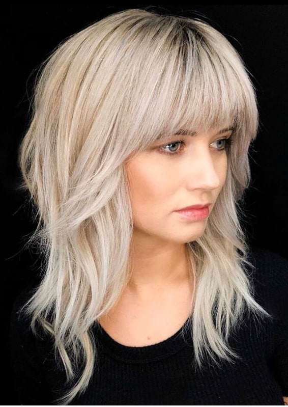 Bold Styles Of Shaggy Hairstyles with Bangs in 2020