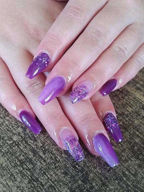 Purple Colored Nail Arts Designs for Ladies in 2020