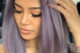 Rooty metallic lavender hair color trends for Women 2020