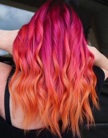 Trendy Look of Orange Hair Color for 2020