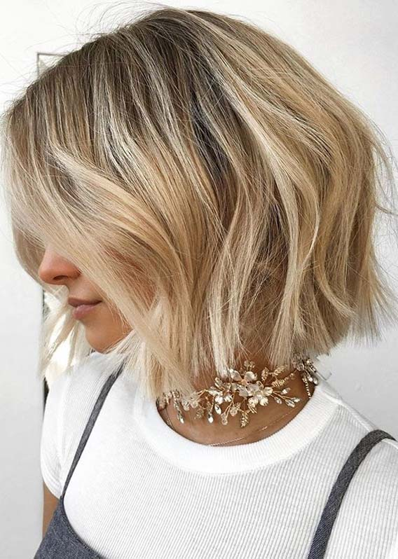 Modern Textured Blonde Bob Haircuts for Every Woman in 2020