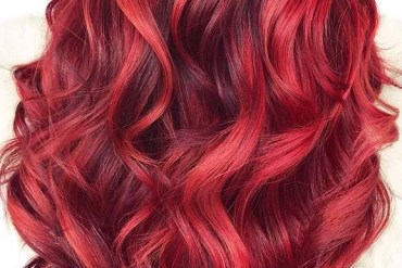 Beautiful red balayage hair color shades to Show Off in 2020