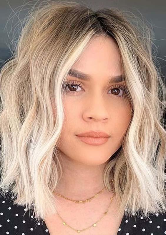 Charming Face Framing Medium Blonde Haircuts for Women 2020