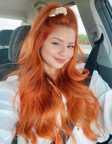 Charming Style of Red Hair Color for Long Hair