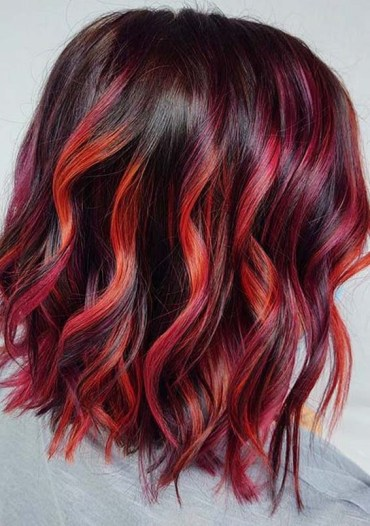 Modern Red Balayage Hair Color Tones for Women 2020