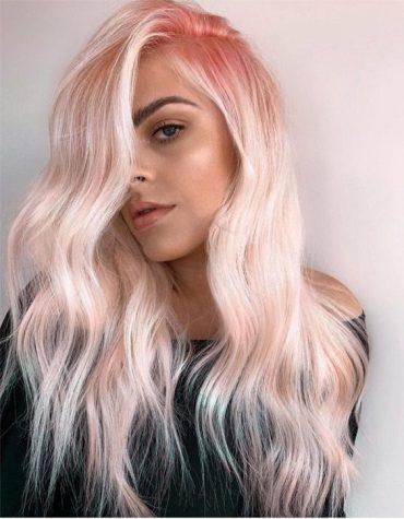 Peach Blonde Hair Color Highlights to Enhance Beauty