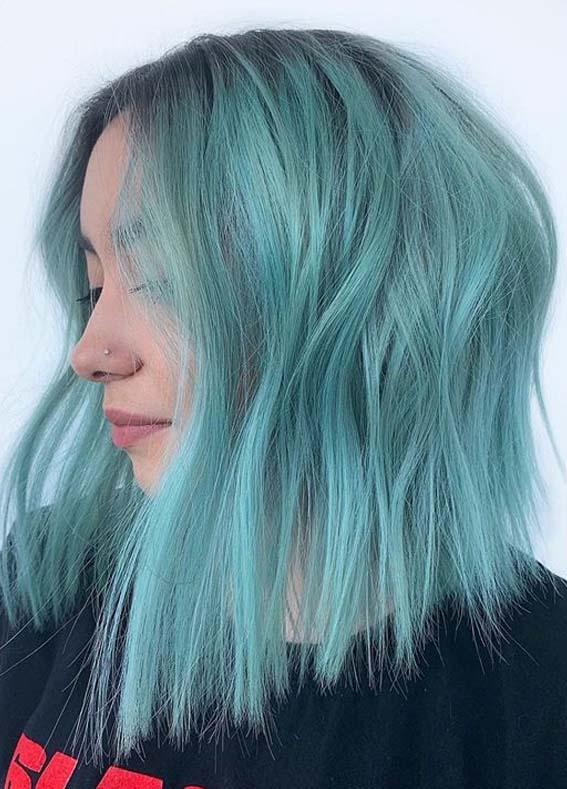Beautiful Teal Hair Color Ideas to Follow in Year 2020