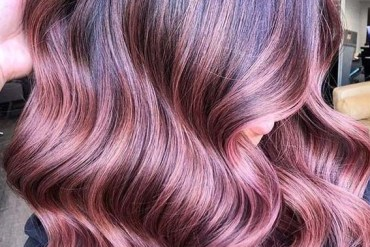 Dimensional mauve Hair Color Trends