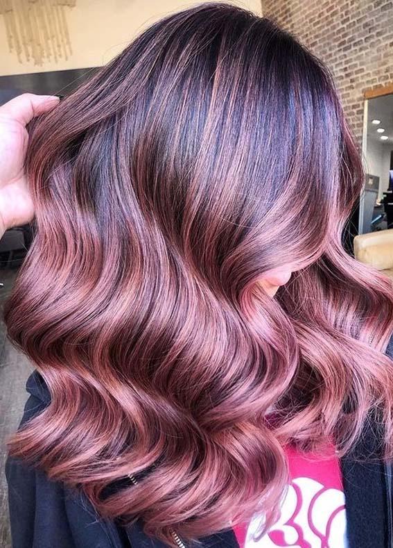 Dimensional mauve Hair Color Trends