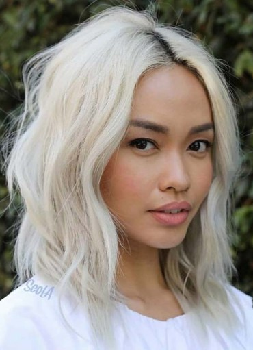 Platinum Blonde Haircuts and Colors