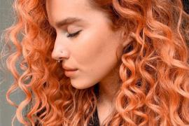 Awesome Curly Haircut & Red Highlights for Young Girls