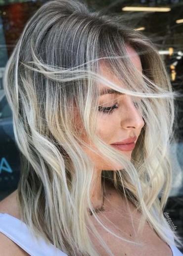 Elegant Blonde Hair Colors with Dark Roots