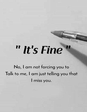Not Forcing You to Talk to Me - Best Miss You Quotes