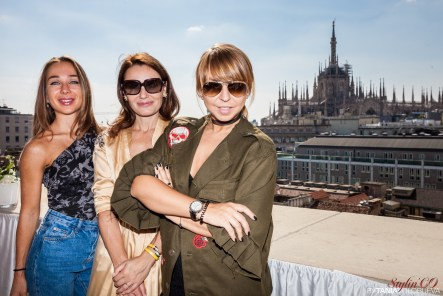 Veronica Sheynina (Buro247), Katia Lavrovskaya (Fashion Collection), Olesya Okuneva (Stylinco Paris)