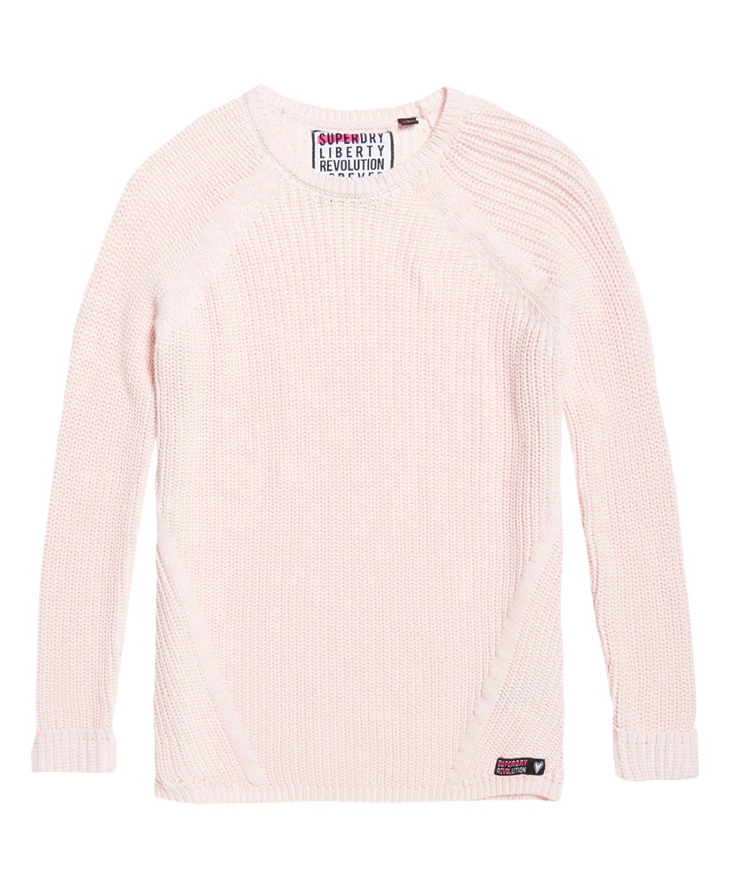 Superdry Alyssa Rib Knit Blush Pink