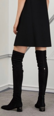 black suede block heeled over-the-knee boots