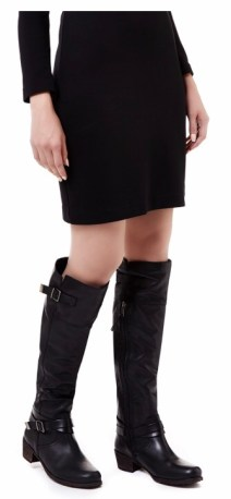 buckle detail over-the-knee leather boots