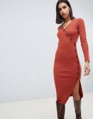 ASOS DESIGN Ribbed Dress