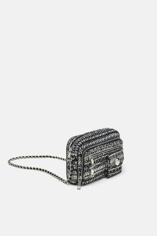 Zara Tweed Crossbbody Bag