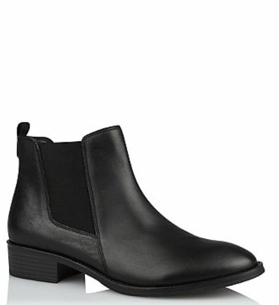 George @Asda Black Leather Chelsea Boots