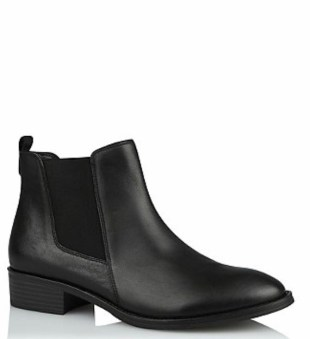 George @Asda Black Leather Chelsea Boots