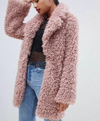 PrettyLittleThing Teddy Coat