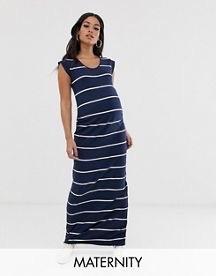 Mamalicious Maternity Stripe Jersey Maxi Dress