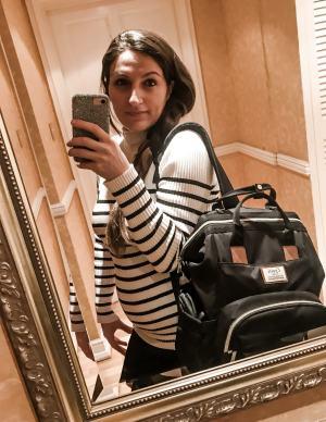 Diaper Bag Girl Mirror
