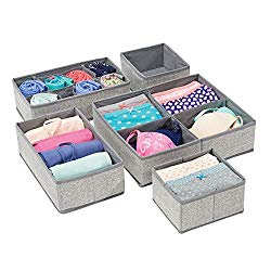 mDesign Soft Fabric Dresser Drawer and Closet Storage Organizer