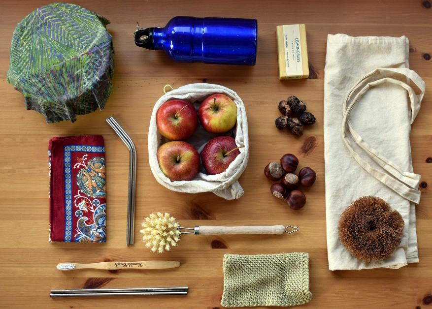 eco friendly products on table